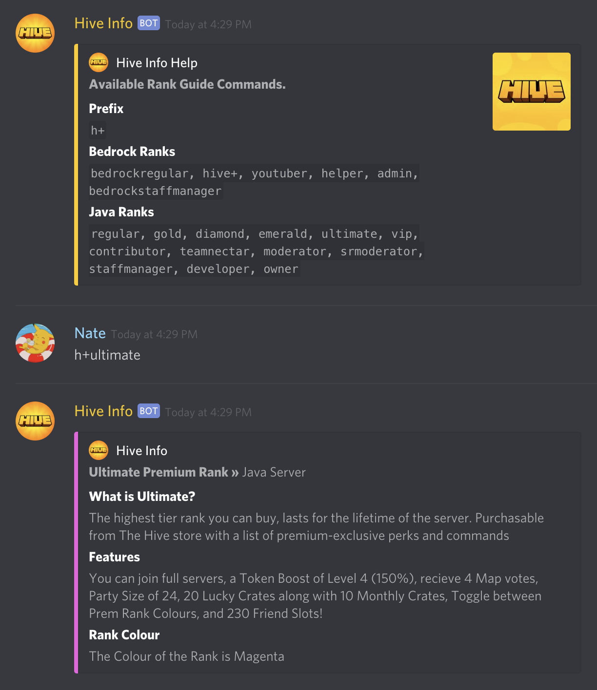 Unofficial Hive Discord Bot - Guides and Stat Lookups 🐝 - Games